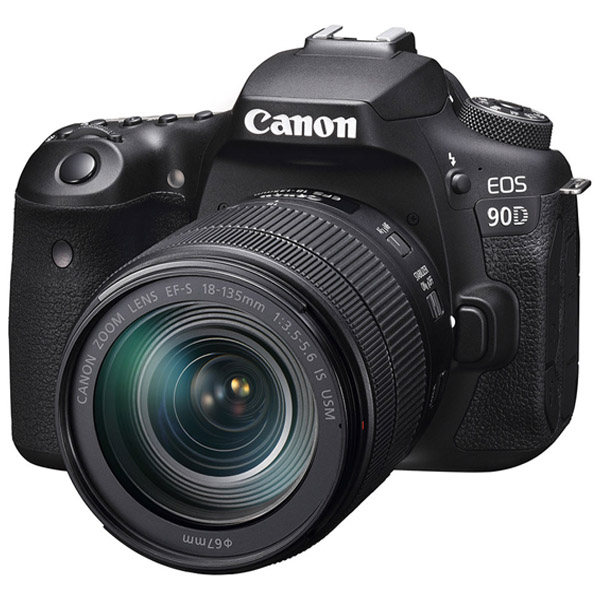 Canon EOS 90D DSLR Camera Black + EFS 18-135mm (EOS 90D 18-135 )