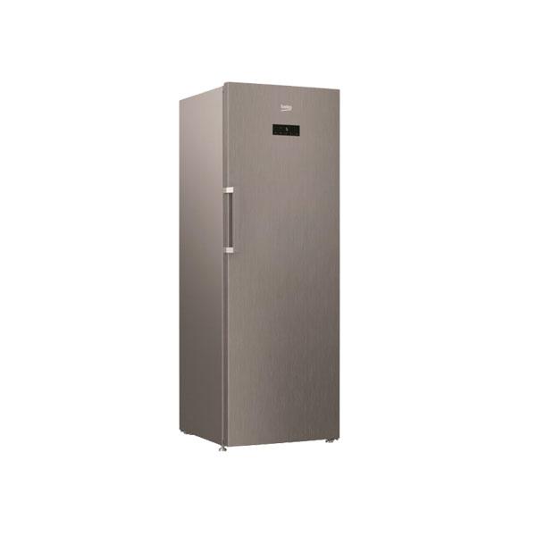 Beko 445 Liter Upright Refrigerator, No Frost, Glass Shelf, Made in Turkey (RSNE445E23PX)