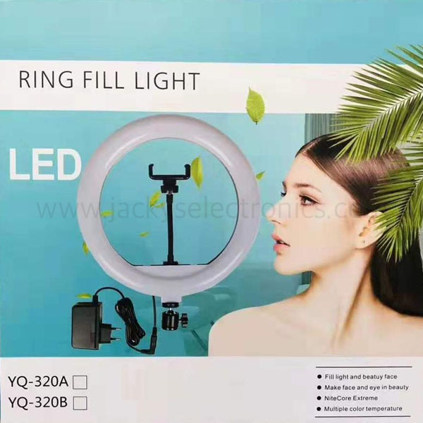 Touch control switch LED Ring Light 12 inch, Adjustable Color Temperature Circle Light with 78 Inch Light Stand & Table ( YQ-320A)