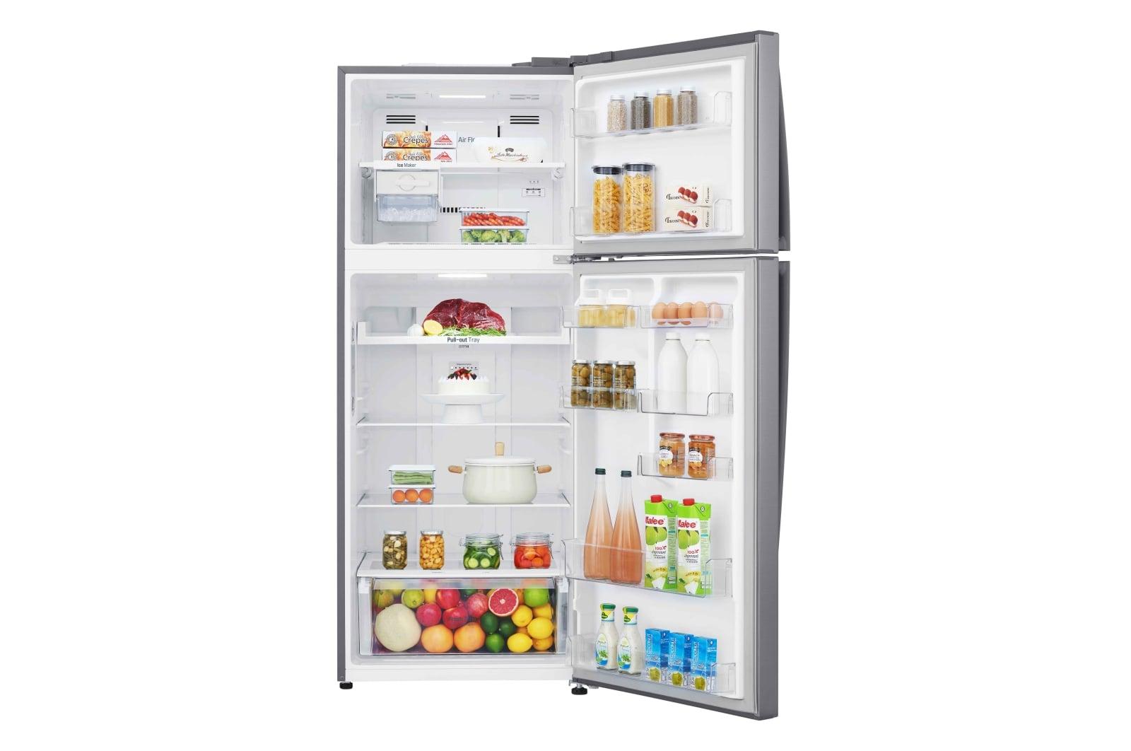 LG Top Mount Freezer, Platinum Silver, Inverter Linear Compressor, DoorCooling+, Multi Air Flow GR-C619HLCN