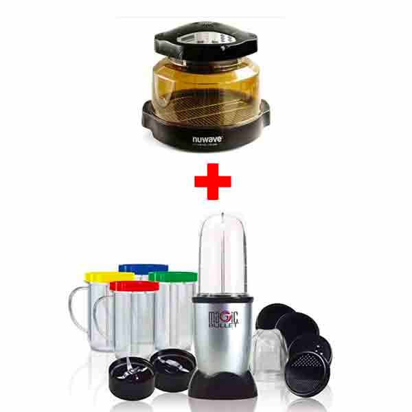 Nutribullet 17PC SET + NUWAVE INFRARED PRO PLUS OVEN (NU20648) MBR-1712MB