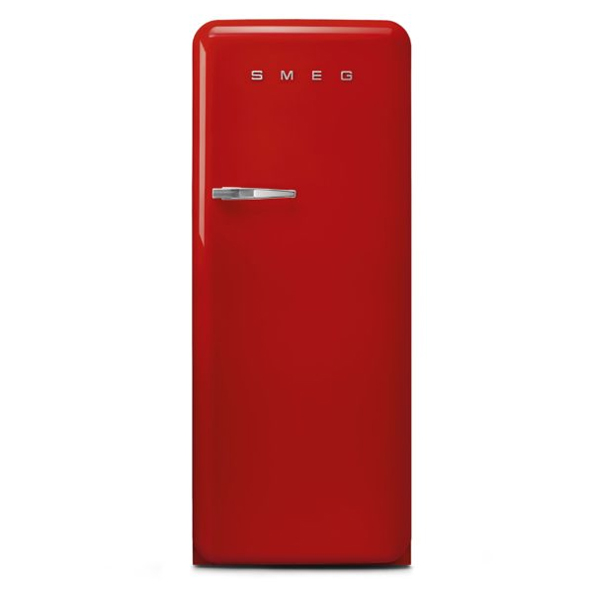 Smeg Single Door Refrigerator 248 Litres, RED (FAB28RRD3GA)