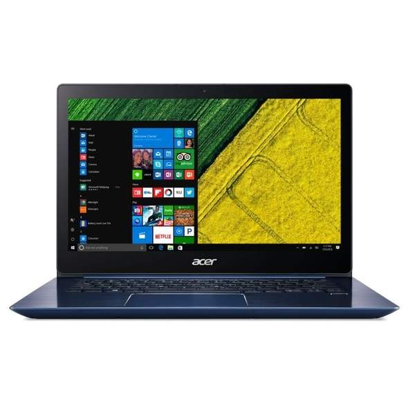 Acer Swift 3  Laptop - Intel Core i5-8250U, 14-Inch FHD, 256GB SSD, 8GB RAM, 2GB VGA-nVidia MX150, Windows 10, Stellar Blue (SF314-52G-52JH)