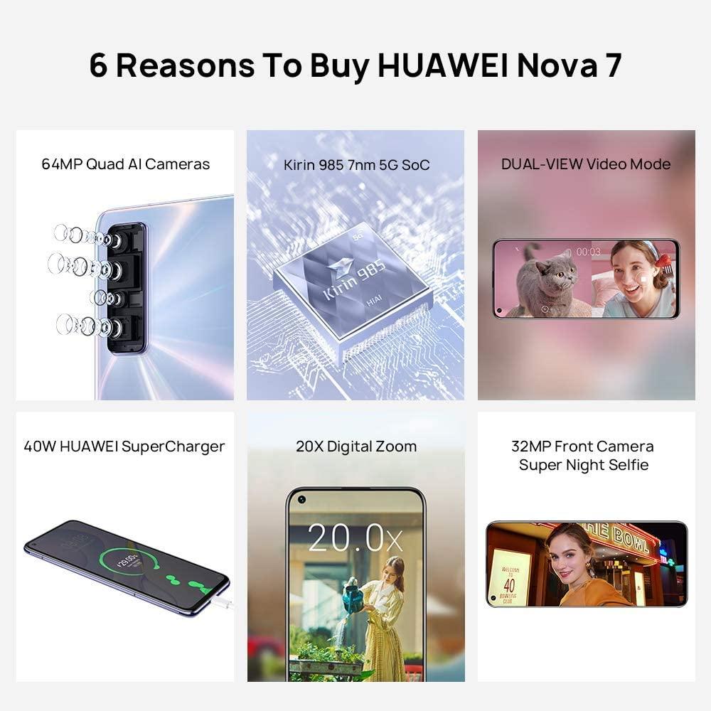 HUAWEI MOBILE PHONE / NOVA 7 ,256GB,5G,PURPLE NOVA7-256GBPR