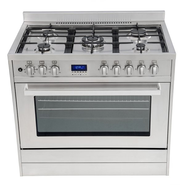 Baumatic BMEC9GEPSS Electric oven & grill with gas hob 7 cooking functions
