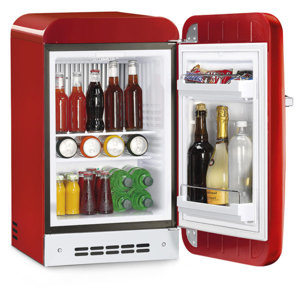 Smeg  Single Door Refrigerator Retro Style Red, 38 Litres (FAB5RRD3GA)