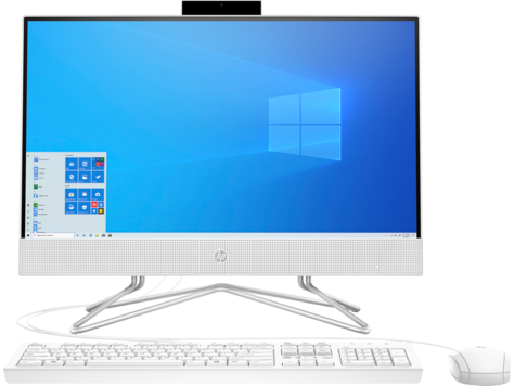 HP All-in-One Home Desktop PC 22-df0000ne 22 Core i3-1005G1, RAM 4 GB, Memory 1 TB, Windows 10, White