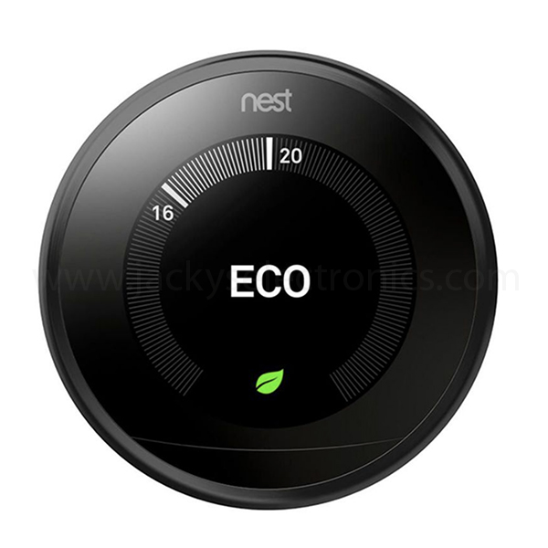 NEST LEARNING THERMOSTAT 3RD GENERATION -BLACK T3018US (NEST-T3018US)