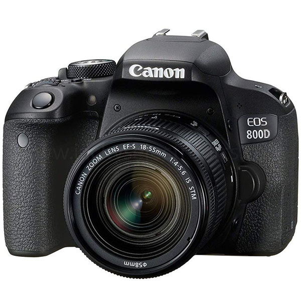 Canon Camera Digital, 24MP,18-55 IS STM,FULL HD VIDEO,WIFI/NFC (EOS 800D 18-55 IS)