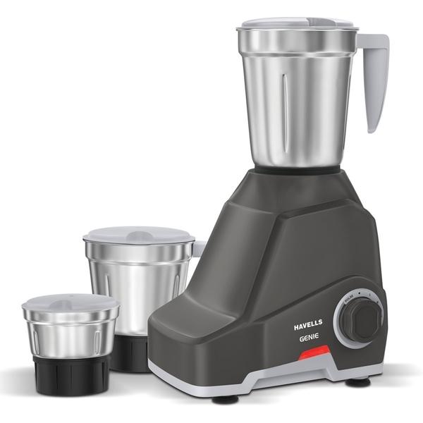 Havells Genie Mixer Grinder Dark Grey 500W (GENE500W3DG)