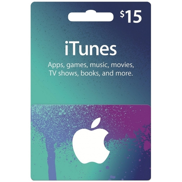 APPLE ITUNES GIFT CARD – 15 USD (ITUNES-15USD)