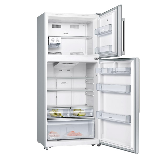 Siemens iQ300 597 Ltrs free-standing fridge-freezer with freezer at top 180.6 x 86 cm Inox-easyclean  (KD75NVI20M)