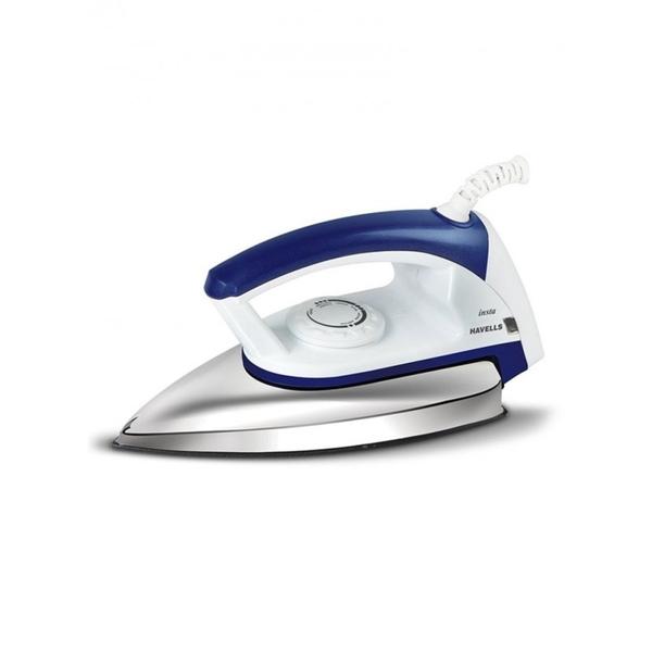 Havells Insta Dry Iron 750W - White/Blue (INSTA750WBL)