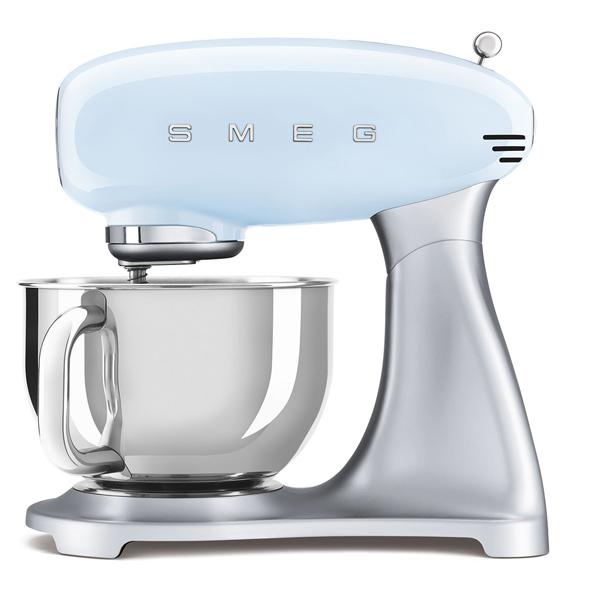 Smeg Kitchen Machine Pastel Blue, 50's Retro Style Aesthetic (SMF02PBUK)