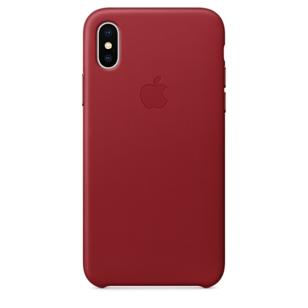 Apple iPhone X Leather Case, Red (MQTE2ZM/A)