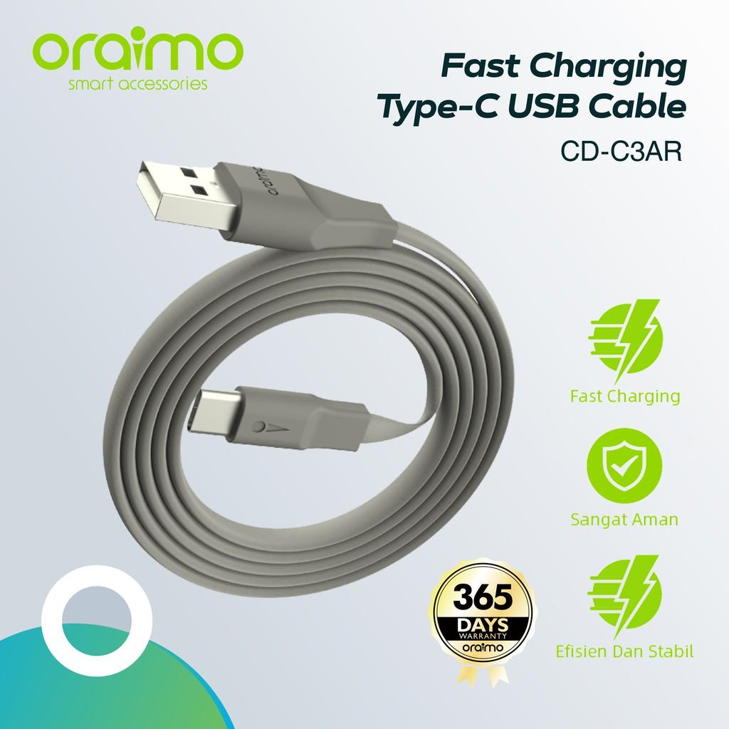 Oraimo CD C3AR 2A USB cable 1m grey