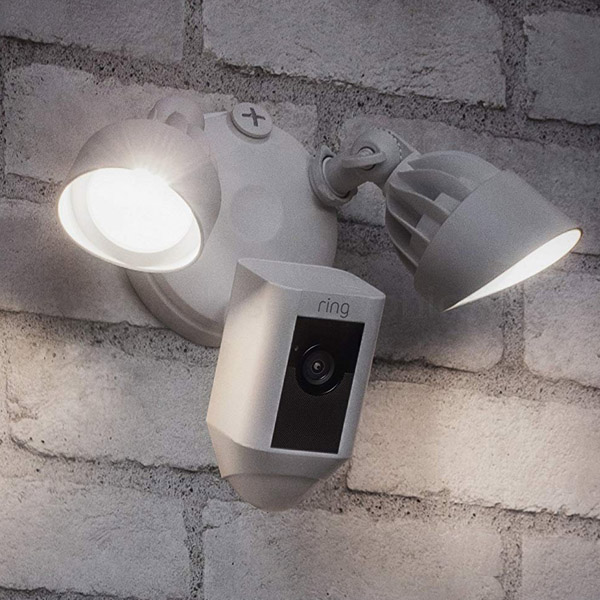 RING SECURITY FLOODLIGHT MOTION ACTIVATED CAMERA