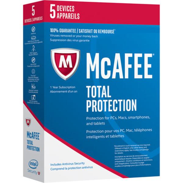 McAFEE Total Protection 2017 - 5 User (MTP17AMB5RAA)