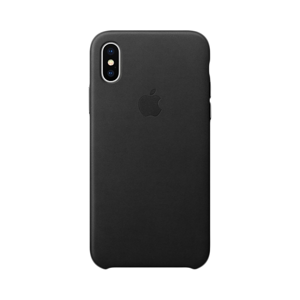 Apple iphone x leather case black mqtd2zm-a