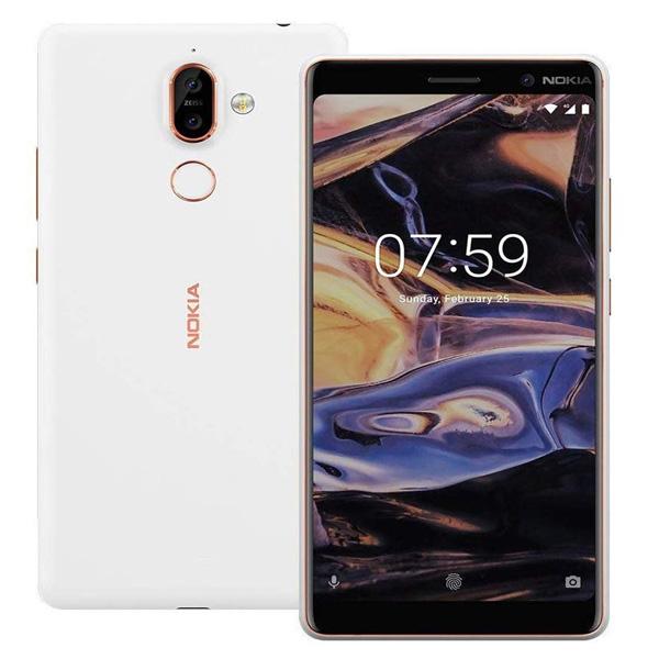 Nokia 7 Plus TA-1046 Dual SIM - 64GB, 4GB RAM, 4G LTE, White (NOKIA7PLUSW-W)