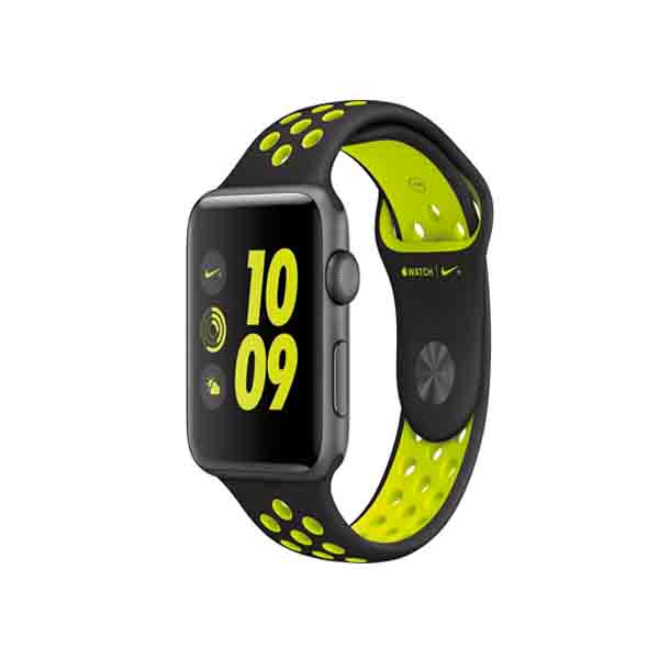 Apple Watch Nike+, 42mm Space Grey Aluminium Case with Black/Volt Nike Sport Band (MP0A2AE/A)