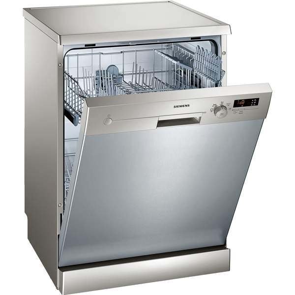 Siemens 60cm iQ300 Dishwasher, Silver (SN25D800GC)