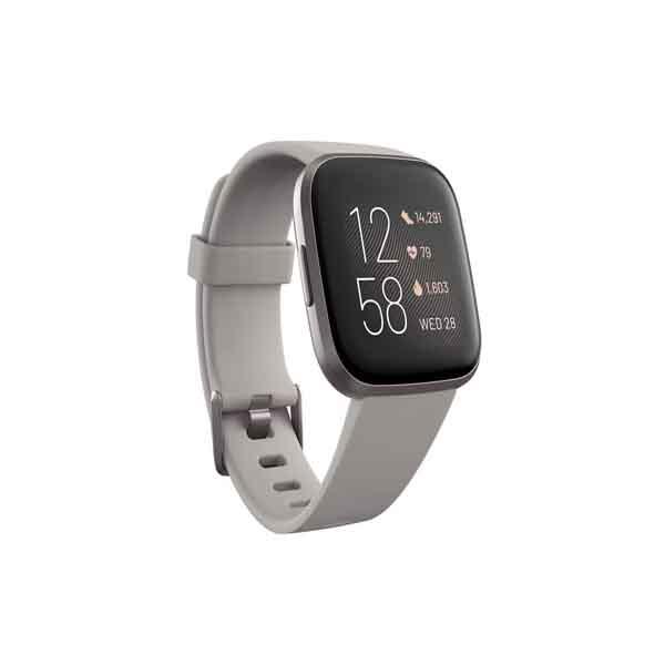Fitbit Versa 2 Smartwatch Stone/Mist Grey Aluminum (FB507GYSR)