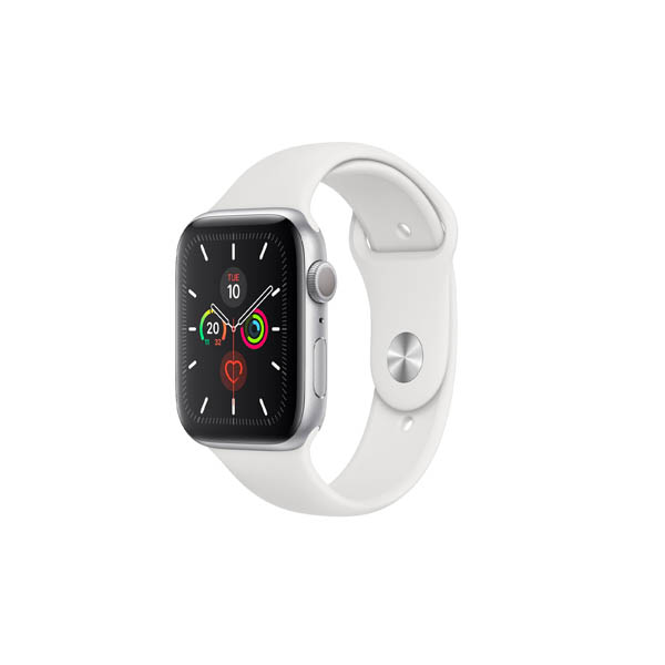 Apple Watch Series 5 GPS, 44Mm Silver Aluminium Case With White Sport Band - S/M & M/L MWVD2AE/A