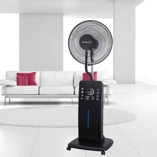 Crownline Remote Controlled Mist Fan, Black (MF-221)