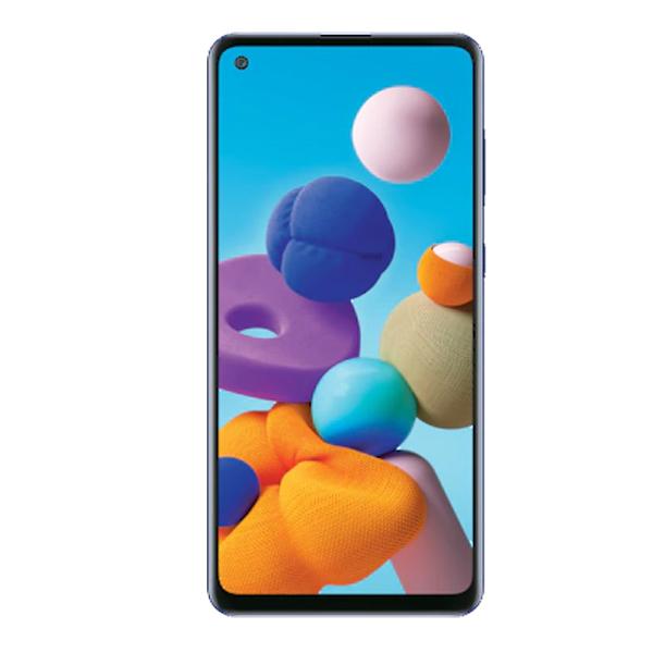 """Samsung Galaxy A21s 6.5"""" 64GB, 4GB RAM Blue (SMA217FZBGXSGW-AA)"""