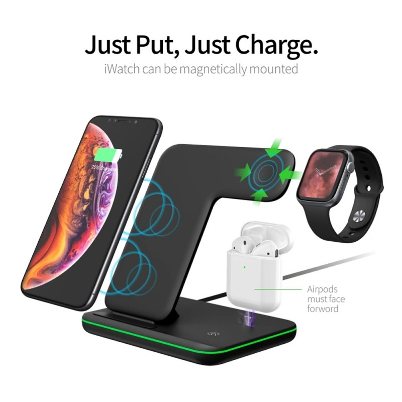 Trands 3 in 1 Wireless Charger - TR-AD6953