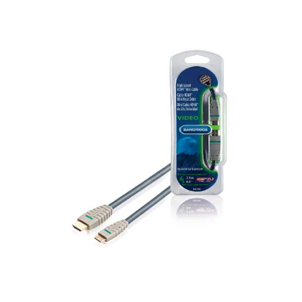 BANDRIDGE BE BLUE HDMI - MINI CABLE (HDMI A M - HDMI C M 2.0m) BVL1502