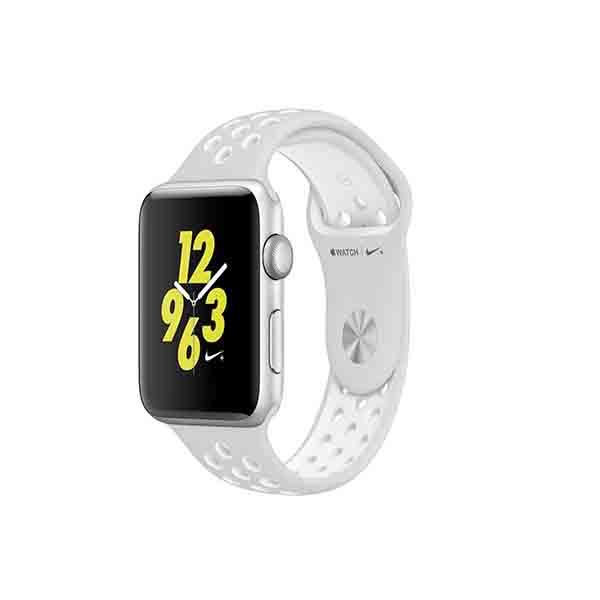 Apple Watch Nike+, 38mm Silver Aluminium Case with Platinum / White Nike Sport Band (MQ172AE/A)