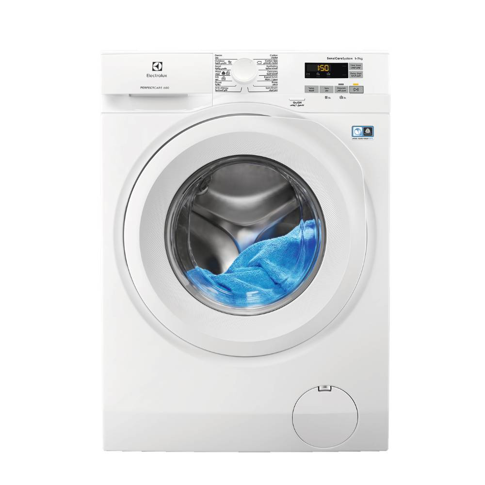 Electrolux 10Kg Washing Machine, 1600 RPM, Inverter Motor, White, Italy. EW8F2166MA