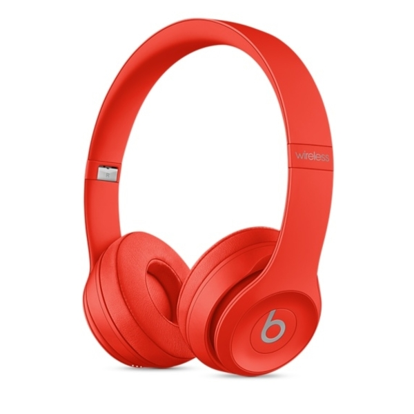 Beats Solo 3 Wireless On-Ear Headphones, Red (SOLO3-RED-EC)