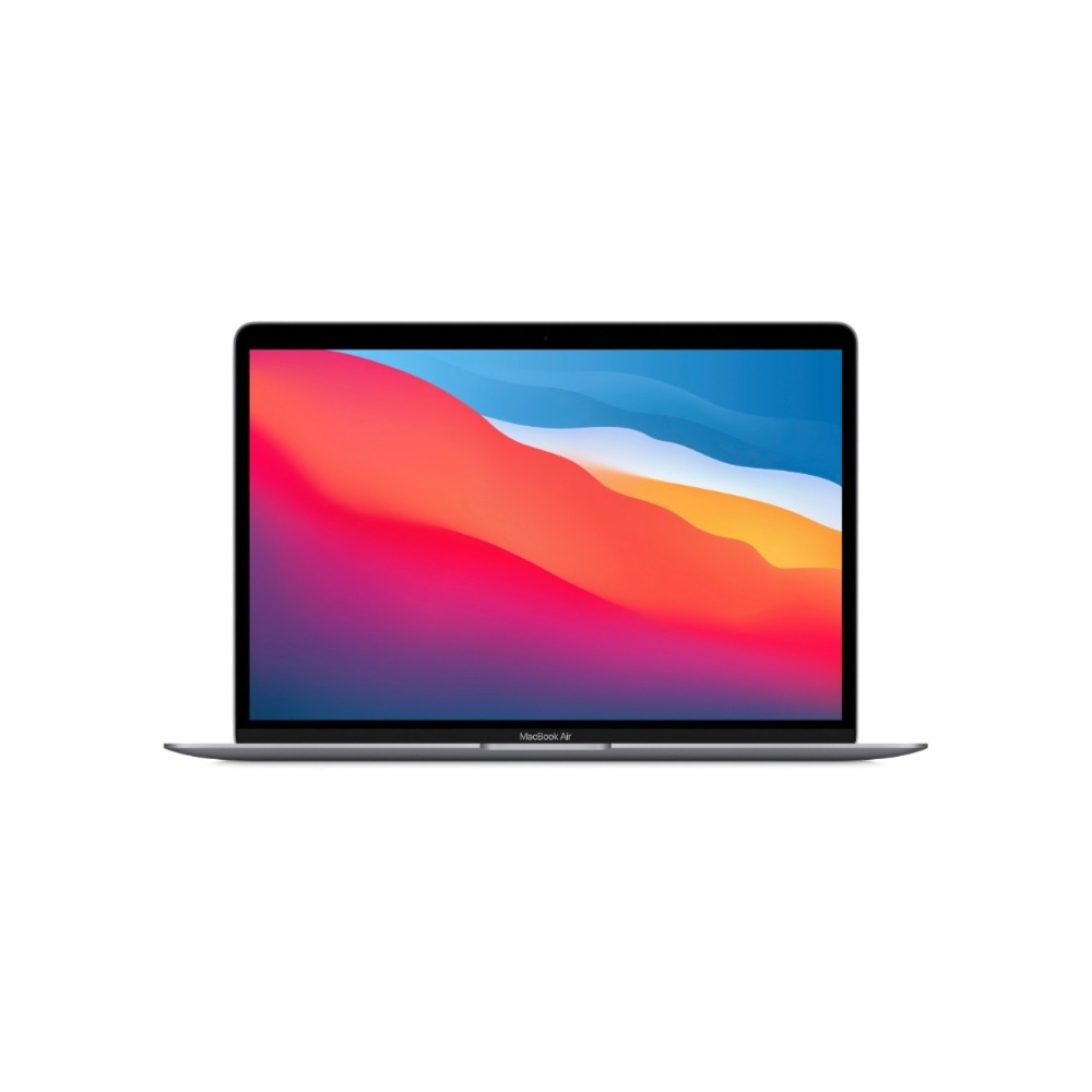 "MacBook Air 13"" M1 chip 256GB SSD 8-core CPU and 7-core GPU 8GB RAM Arabic / English Keyboard Space Grey MGN63AB/A"