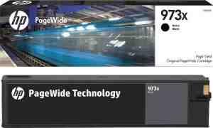 HP 973X High Yield Black Original PageWide Cartridge L0S07AE