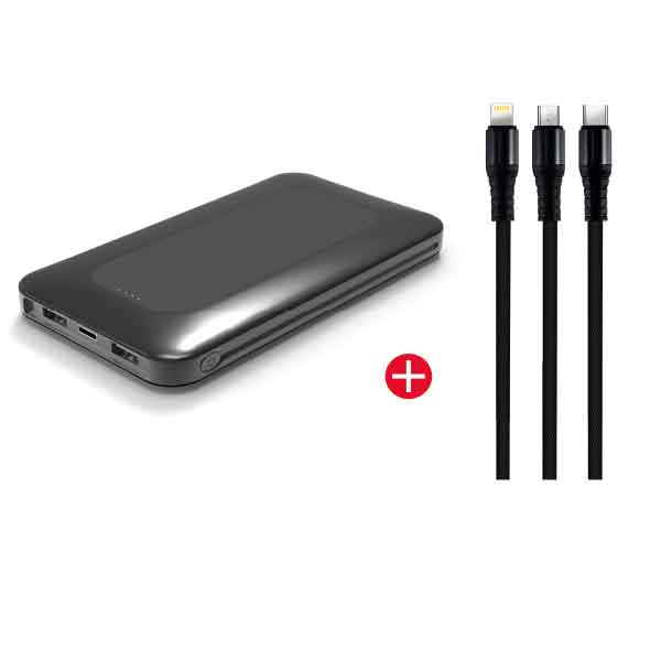 TRANDS 10K POWERBANK + 3IN1 CABLE (TR-BD2018)