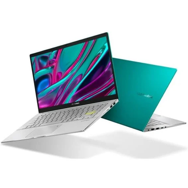 "Asus VivoBook S14 i7 10th Gen, 8GB RAM, 512GB SSD, 2GB Graphics, Win10 - Gaia Green S433FL-EB079T 14"" FHD English / Arabic Keyboard"