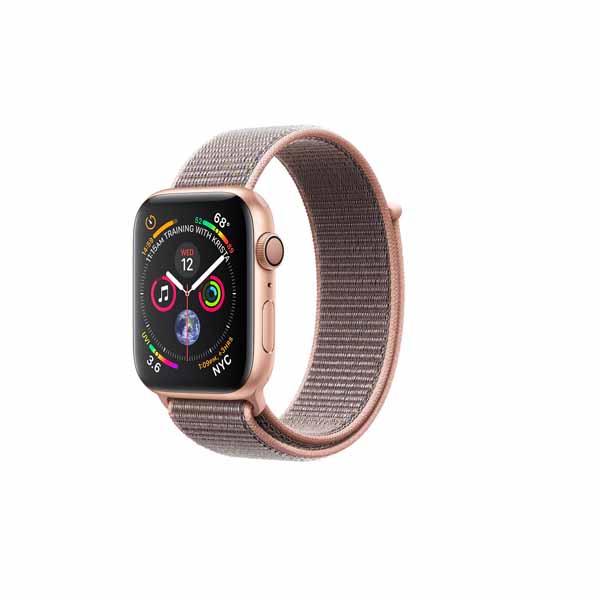Apple Watch Series 4-40 mm GPS Gold Aluminium Case With Pink Sand Sport Loop (MU692-EC)