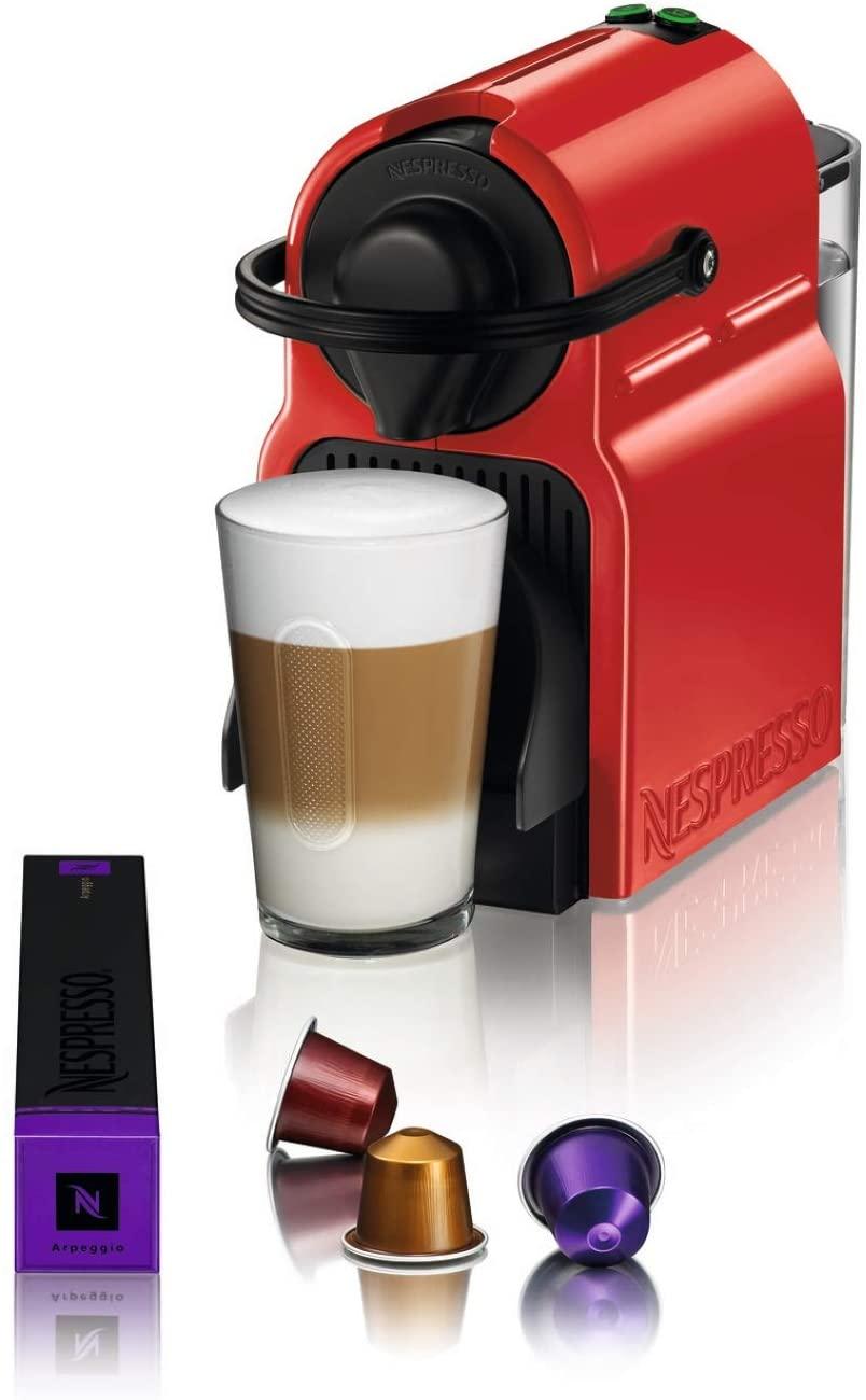 Nespresso Inissia Coffee Machine, Ruby Red C40-ME-RE-NE