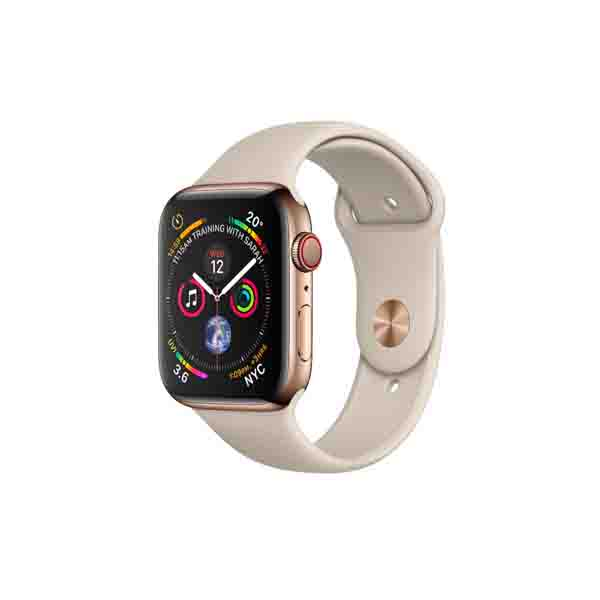 Apple Watch Series 4 GPS + Cellular, 40mm Gold Stainless Steel Case with Stone Sport Band (MTVN2AE/A)