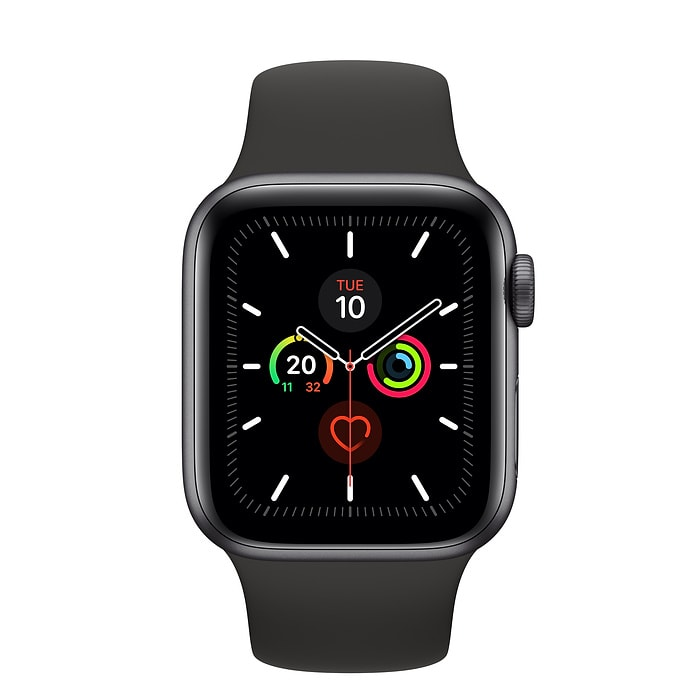 Apple Watch Series 5 GPS + Cellular, 40mm Space Grey Aluminium Case with Black Sport Band - S/M & M/L - PRE-BOOKING ONLY