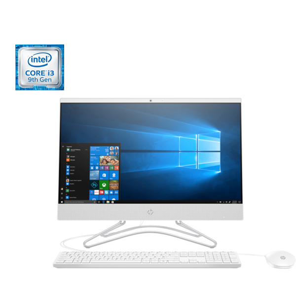 "HP 22 All-in-One PC 22-c0015ne, Intel core i3-9100, 4RAM, 1TB HDD, 22"" Screen W10 White (22-C0015)"