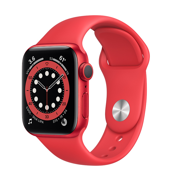 Apple Watch Series 6 GPS + Cellular, 40mm PRODUCT(RED) Aluminium Case with PRODUCT(RED) Sport Band - Regular M06R3AE/A