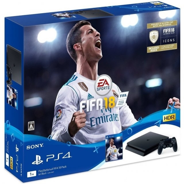 Sony PS4 Gaming Console - 1TB with DS4 and Fifa18 (PS4/1TBDS4-FIFA18)