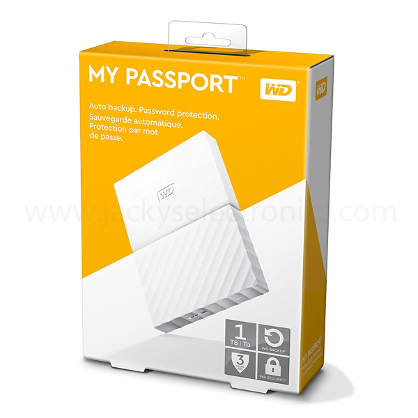 Western Digital My Pasport 2TB Portable Hard Drive, White (WDBS4B0020BWT-WESN)