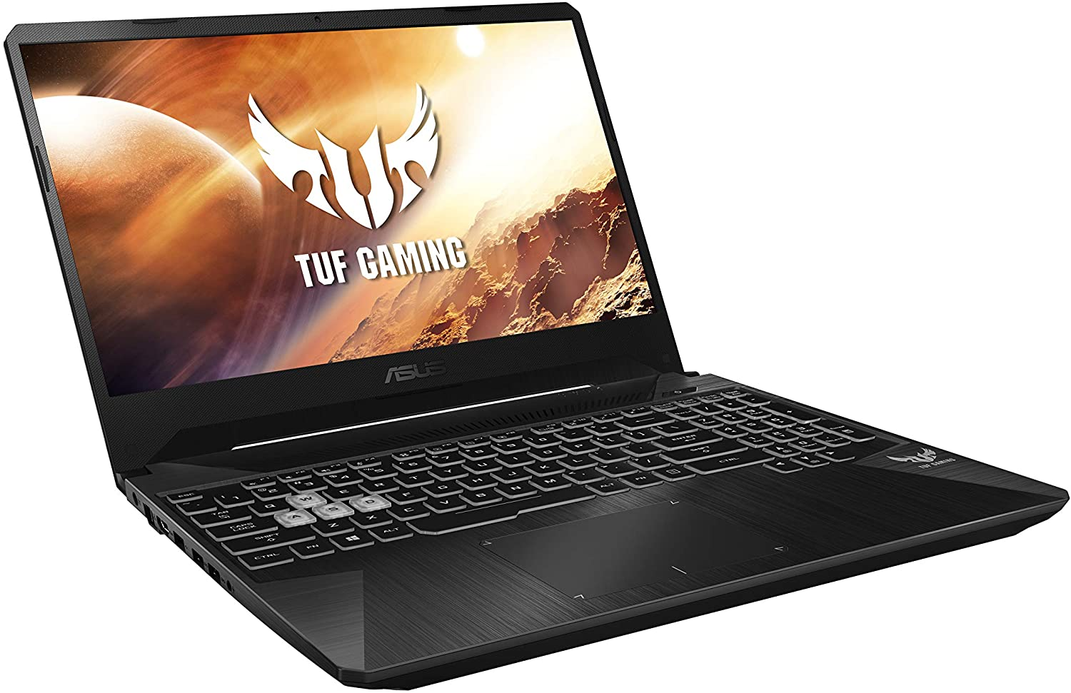 Asus TUF Gaming FX505DD-BQ121T Gaming Laptop (Black) - AMD R5-3750H 2.1 GHz, 8 GB RAM, 512 GB SSD, Nvidia GeForce GTX 1050,15.6 inches, Windows 10, Eng-Arb-KB