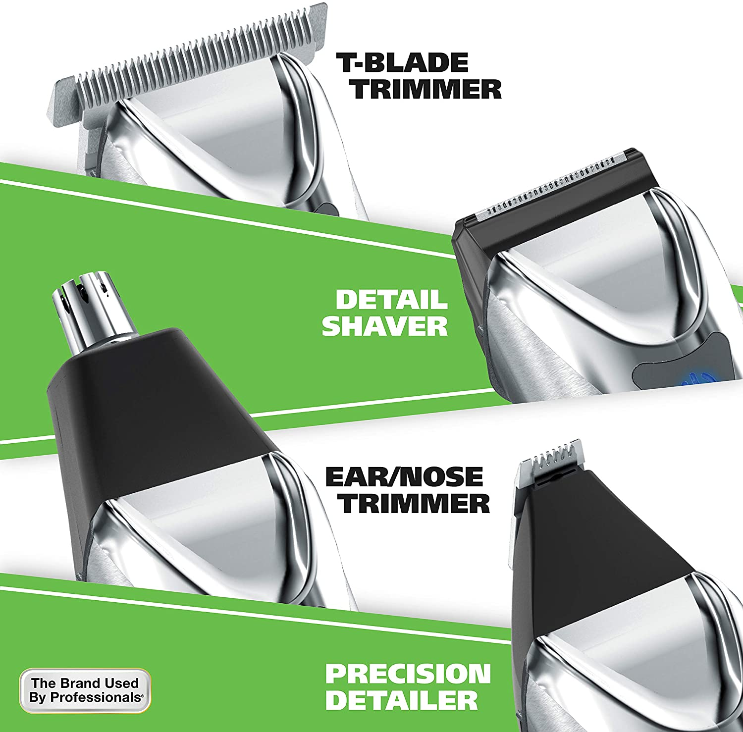 Wahl Clipper Stainless Steel Lithium Ion Plus 9818-727