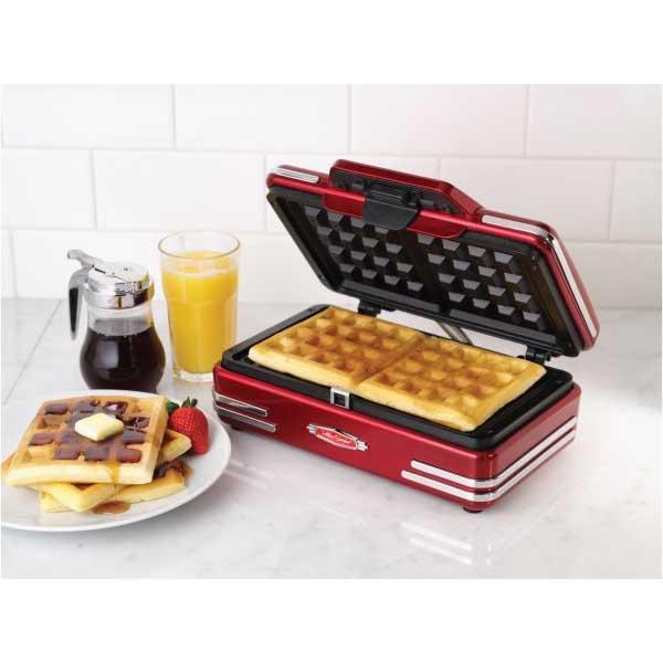 Nostalgia Retro Red '50s Style Belgian Waffle Maker (RWM200RR)